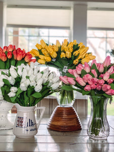 Real touch white tulips - Baycreek & Co