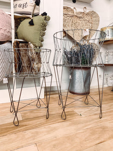 Metal laundry basket (small) - Baycreek & Co