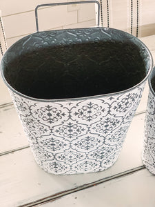Wall Planters- embossed (set of 2) - Baycreek & Co