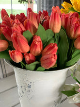 Real touch orange tulip bundle - Baycreek & Co