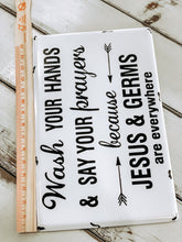 Jesus and germs enamel sign - Baycreek & Co