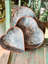 Galvanized Heart Trays (set its 3) - Baycreek & Co
