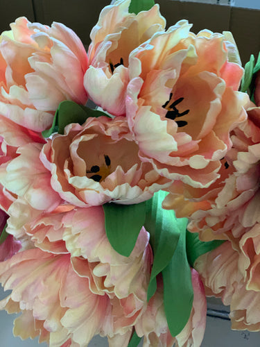 13. Real touch parrot tulips (orange) - Baycreek & Co