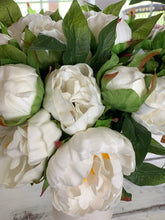 Real touch white peony bundle - Baycreek & Co