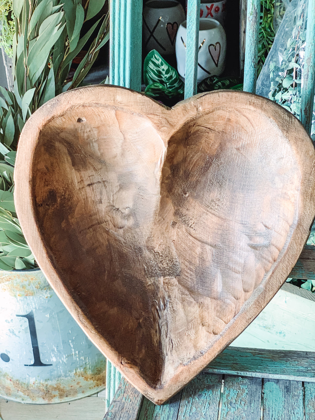 Hand Carved Heart Bowl - Baycreek & Co
