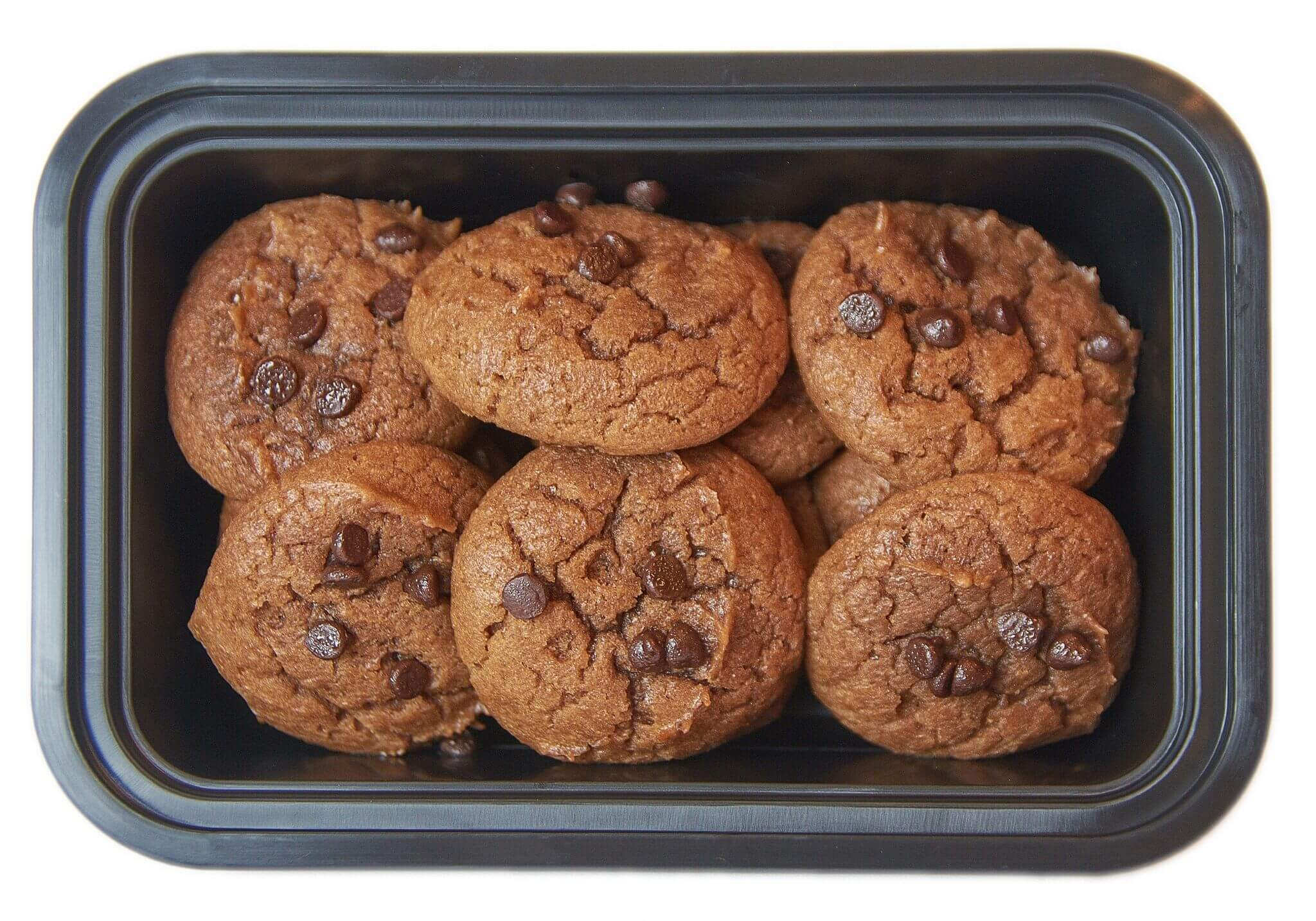Chocolate Chocolate Chip Protein Cookies