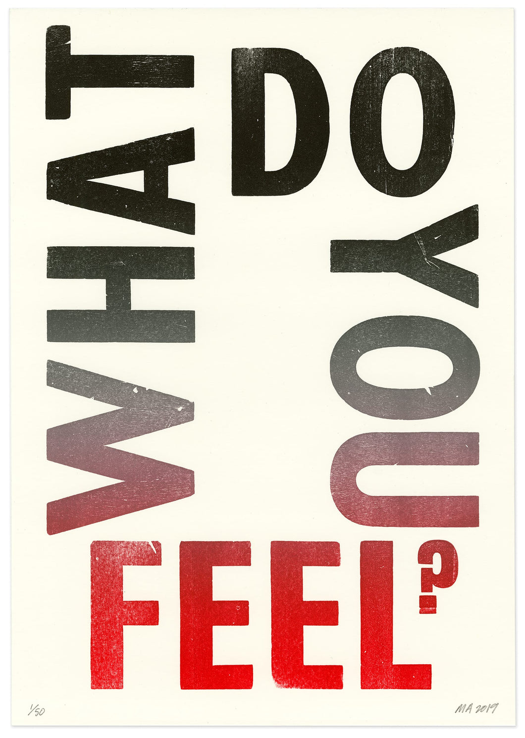 What do you feel?