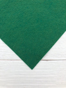 "HUNTER GREEN - 8""x12"" Wool Blend Felt"