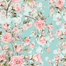 ROMANTIC ROSES - Custom Printed Double Brushed Poly Fabric