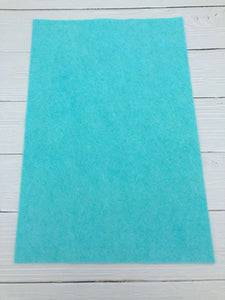 "AQUA - 12""x18"" Wool Blend Felt (Large Sheet)"