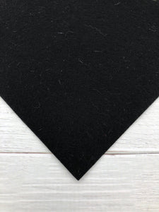 "BLACK - 12""x18"" Wool Blend Felt (Large Sheet)"