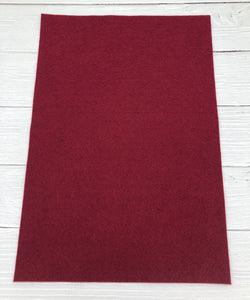 "BURGUNDY - 12""x18"" Wool Blend Felt (Large Sheet)"