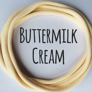 BUTTERMILK CREAM - Dainties® by Nylon Headbands