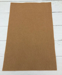 "CAMEL - 12""x18"" Wool Blend Felt (Large Sheet)"