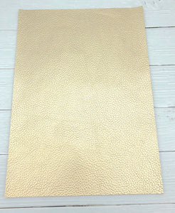 CHAMPAGNE GOLD - Pearlised Leather