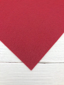 "CHERRY - 12""x18"" Wool Blend Felt (Large Sheet)"