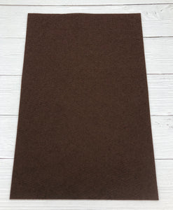"CHOCOLATE - 12""x18"" Wool Blend Felt (Large Sheet)"