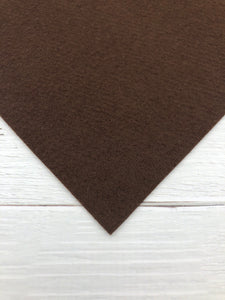 "CHOCOLATE - 8""x12"" Wool Blend Felt"