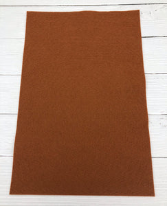 "CINNAMON - 12""x18"" Wool Blend Felt (Large Sheet)"