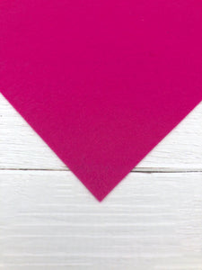 "FUCHSIA - 12""x18"" Wool Blend Felt (Large Sheet)"