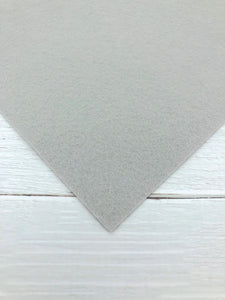"GREY - 12""x18"" Wool Blend Felt (Large Sheet)"