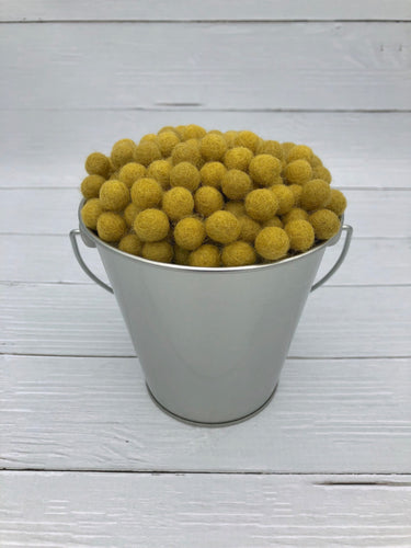 Honey Mustard - 1cm Felt Balls