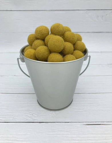 Honey Mustard - 2cm Felt Balls
