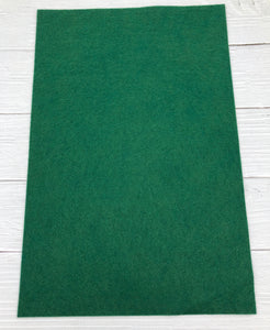 "HUNTER GREEN - 12""x18"" Wool Blend Felt (Large Sheet)"