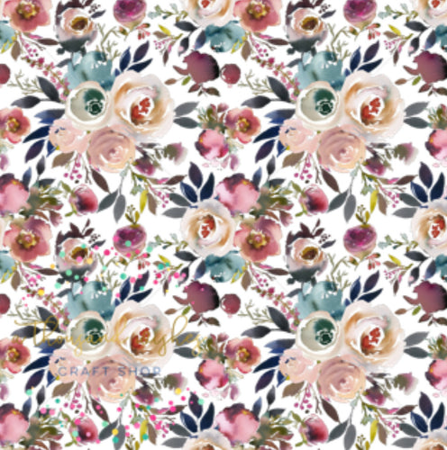 MISTY ROSE - Custom Printed Bullet Liverpool Fabric