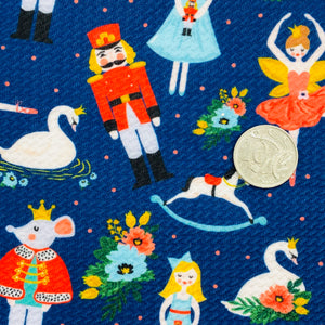 THE NUTCRACKER BALLET (NAVY) - Custom Printed Bullet Liverpool Fabric
