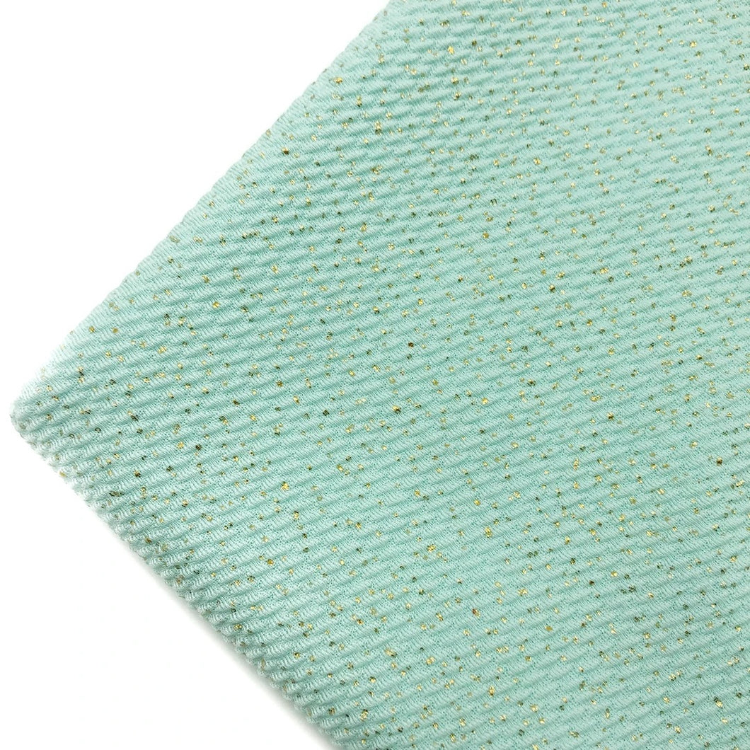 AQUA GOLD DUST - Bullet Liverpool Fabric
