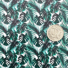 MONSTERA PALM LEAVES - Custom Printed Leather