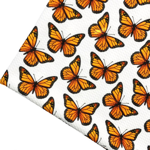 MONARCH BUTTERFLIES - Custom Printed Bullet Liverpool Fabric
