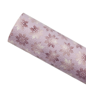 ***PRE-ORDER*** SPARKLING SNOWFLAKES - Custom Printed Leather