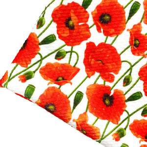 REMEMBRANCE POPPIES - Custom Printed Bullet Liverpool Fabric