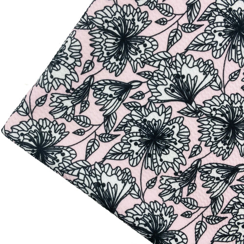 BLOSSOMING BEAUTY - Custom Printed Bullet Liverpool Fabric