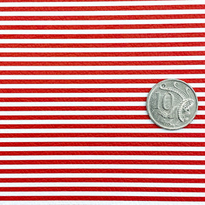 RED STRIPES - Custom Printed Leather