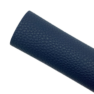NAVY - Litchi Leather