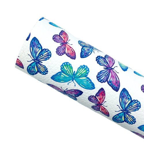 BEAUTIFUL BUTTERFLIES - Custom Printed Leather