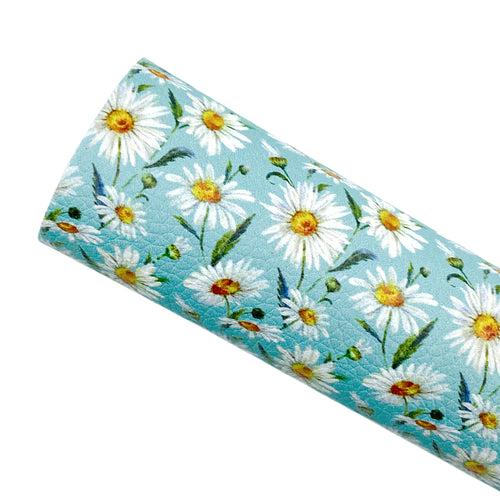 *PRE-ORDER* DAISIES - Custom Printed Leather