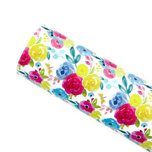 SUNSHINE BLOOMS - Custom Printed Leather