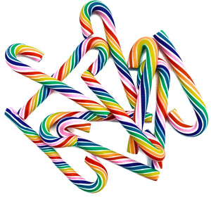 RAINBOW CANDY CANES - Clay Embellishments