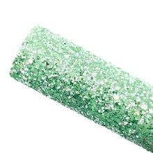 GREEN APPLE FIZZ - Chunky glitter fabric