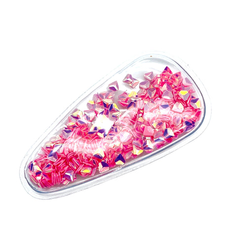 PINK GEMS - Shaker Snap Clip Covers (3pcs)