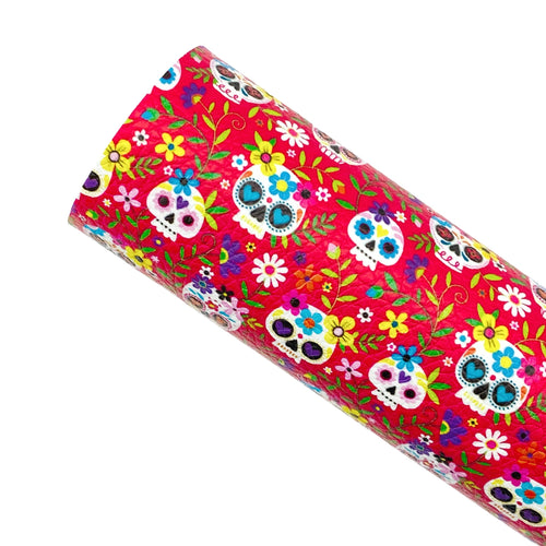DAY OF THE DEAD - Custom Printed Leather