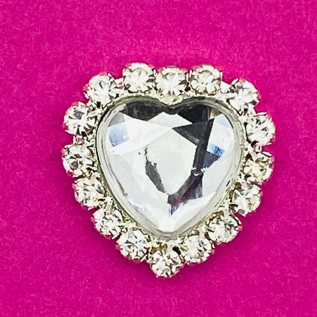 CLEAR (HEART) - Rhinestone Embellishments (18mm)