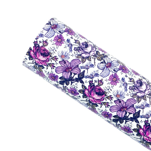 ***PRE-ORDER*** MARGARET BLOOMS - Custom Printed Leather