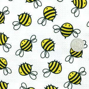 BUMBLE BEES - Custom Printed Bullet Liverpool Fabric