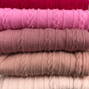 PINK - Cable Knit Nylon Strip