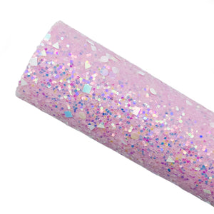 PINK LILAC DAZZLE - Chunky glitter fabric